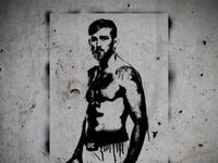 "Alexander ""The Mauler"" Gustafsson Stencil"