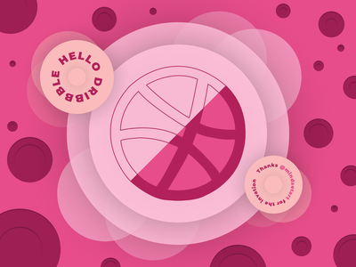 Hello Dribbble welcome dribbble ux