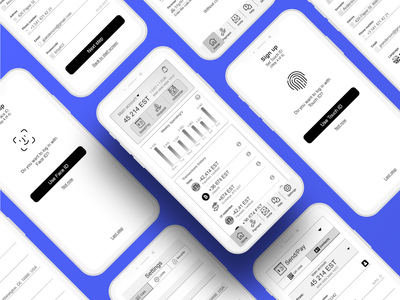 Wireframe. Crypto mobile app bank app prototype wireframe crypto wallet crypto ux
