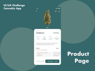 UI/UX Challenge - Cannabis App