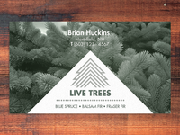 Live trees business card