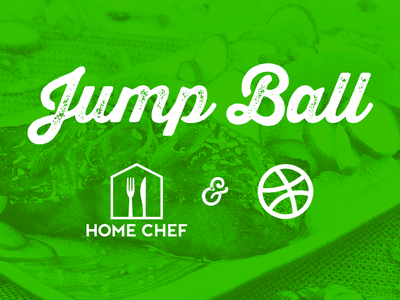 Jump Ball dribbble thirsty rough food overlay plated dish