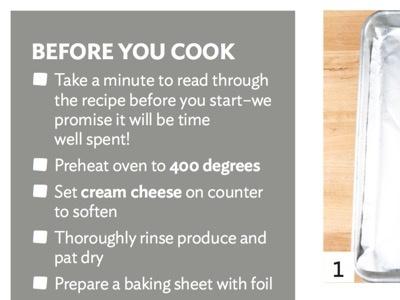 Step 0: ideal sans steps food print