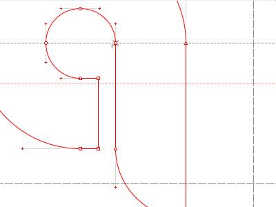 The Letter Q font outlines vectors grid studio work