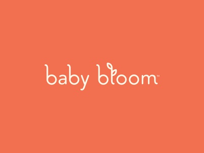 Baby Bloom brand logo design icon vector bloom illustration nanny doula newborn baby logo design branding