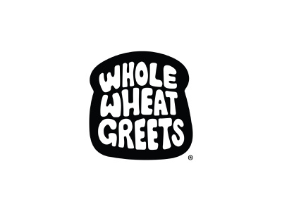 Whole Wheat Greets greeting cards branding typography illustration greetings slice bread brand logo