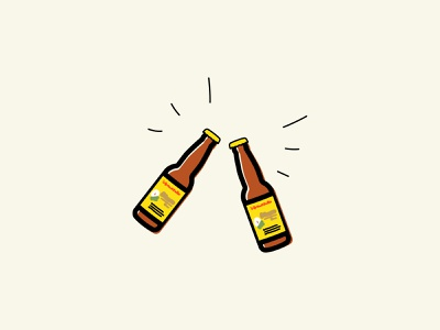 cerveza, por favor mexico pacifico happy birthday beers drinks happy hour vector drawing illustration cheers bottle cerveza beer