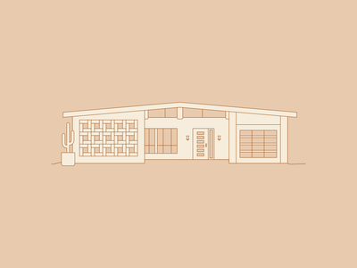Mid Century line drawing home design mid century design mid century house mid century modern mid century house home vector design illustration