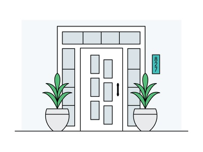 Come on in… measure how to transoms sidelites windows entry plants illustration front door