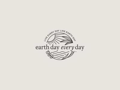 Earth Day Every Day mark conservation earthday earth vector branding ocean logo design illustration