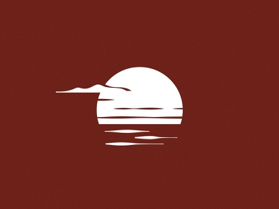 Rising Sun morning simple sunrise sun vector ocean design illustration