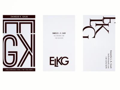 Monogram & business cards