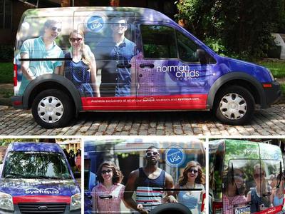 eyetique Norman Childs Vehicle Wrap