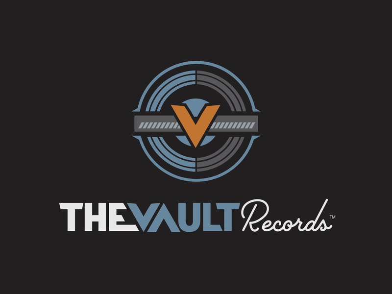 The Vault Records indie record indie artist label songwriter singer records record label recording studio pittsburgh ocreations music logo label icon graphic design design corporate identity business branding brand