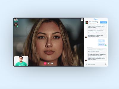 Spark: video meetings zoom meeting conversation chat skype social media video call video meeting video conferencing javascript design css ux ui app