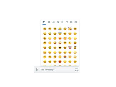 Javascript emoji picker minimal emojis messaging chat emoji ux web webdesign javascript app ui html design