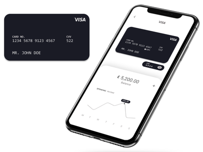 Concept banking app budgeting bank iphone visual design visa debit card finance banking figma javascript css design ux ui app