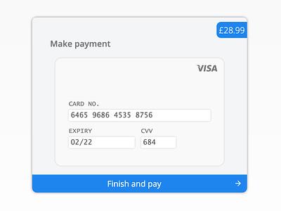 Debit/Credit card payment page webdesign web ui ux minimal javascript html css design app