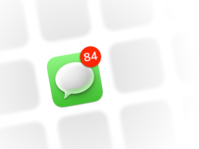 macos messages icon icon vector