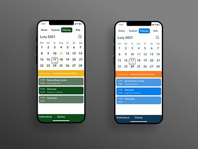 Calendar app mobile app mobile ui mobile pallet ux uiux ui calendar ui calendarapp calendar inspiration app design app