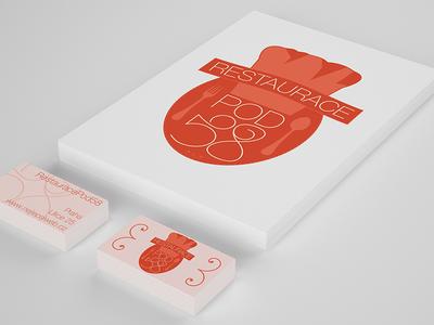 Restaurant Logo & Bussines Card logo restaurant bussines card illustrator free download