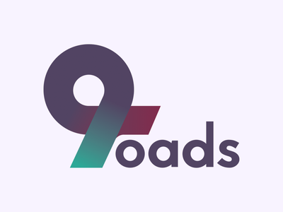 9roads logo symbol studio logotype type roads logo