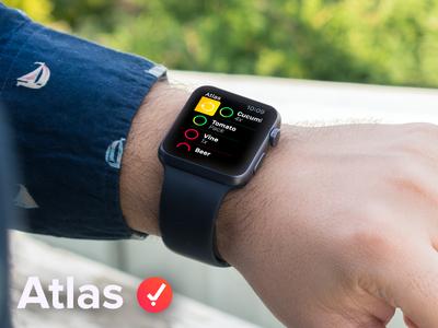 Atlas - Apple Watch app list shopping ios mockup app watch apple atlas