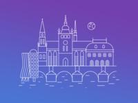 Illustration of Prague
