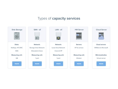 Types of capacity services price disk cloud server hardware network illustration icon products product