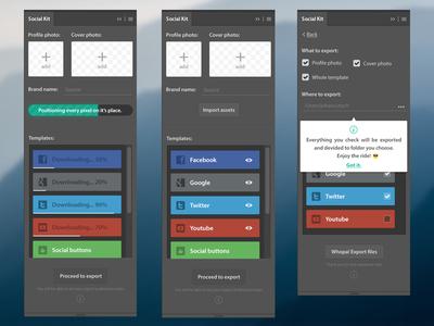 Social Kit Pro social kit update template kit source social extension design plugin photoshop