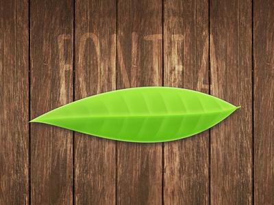 Fontea Icon realistic plugin photoshop free fontea leaf tea font icon
