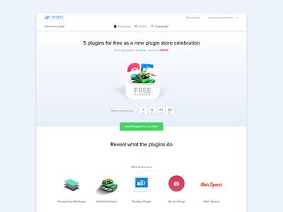 5 free plugins page sketch photoshop goods store source web page landing plugins free