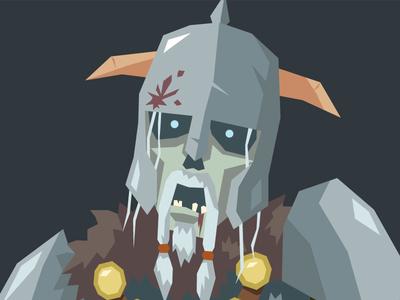 Undead Soldier Closeup horns soldier undead skull helmet