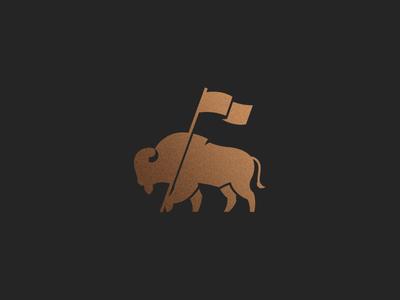 Tatonka bison tatonka gold icon flag buffalo
