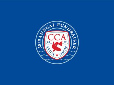 CCA Annual Fundraiser 2017 branding crest shield waves annual fundraiser cca fish