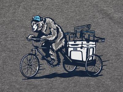 YETI ACL T-shirt Pedicab Bear t-shirt cooler yeti bear pedicab