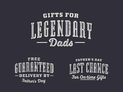 Father's Day at YETI yeti legendary custom typography