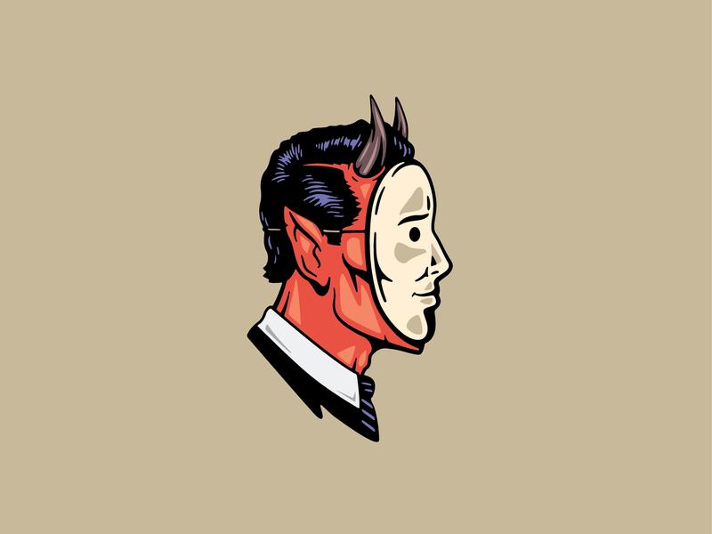 Demon Mask horns demonic vector mask demon