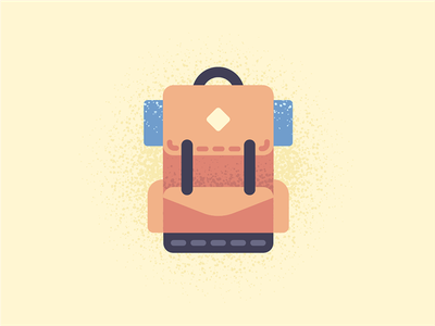 Hiking Gear adventure wilderness forest icon camping hiking illustration backpack
