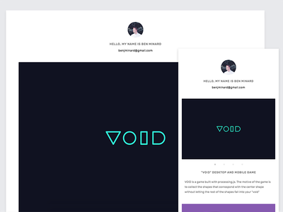 Personal Website WIP simple minimal branding website portfolio personal uiux wip