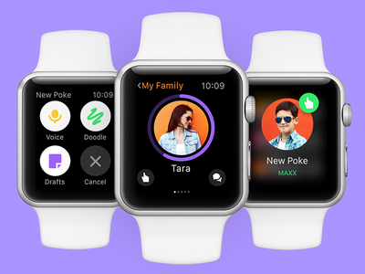  Watch My Home App  prototype framerjs framer profile notification menu myhome wearable watch apple uiux