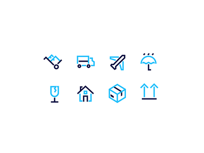 Moving Icons line moving home travel icon