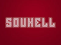 SouHell: wordmark logo,