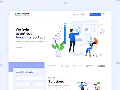 Accounting Firm Website & UI/UX Design ui  ux uiux ui webdesign uxdesign ui design accounting website illustration uidesign minimal
