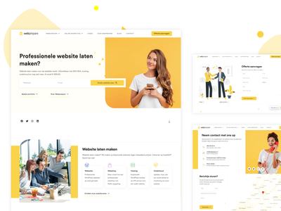 WebPrepare - Web Development Agency uiux layout interface minimal particles design illustration website web design web ui kit ux design ux ui design ui icons elements call to action