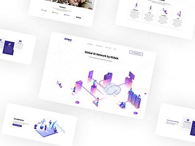 Work concept for an AI company ux  ui ui design uxui ui  ux web design website design webdesign uxdesign artificial intelligence ai uiux uidesign ui minimal website web ux logo design illustration