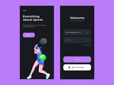 Live Score App Design minimal design illustration app flat ui responsive design ios app design dribbble app design
