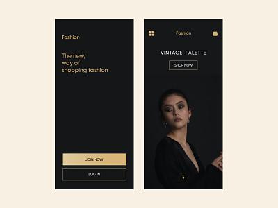 Fashion Shop typography responsive design ui uidesign apple app e commerce app shopping app design dribbble ios app design