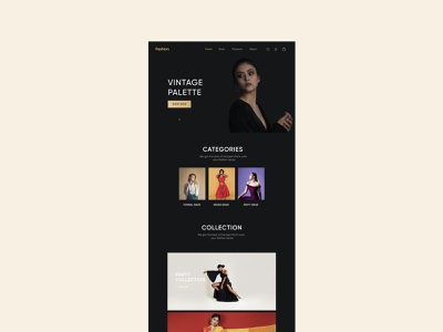 Fashion Shop Web UI uidesign design minimal dribbble responsive design ui shopping website shopping website concept website design webdesign web