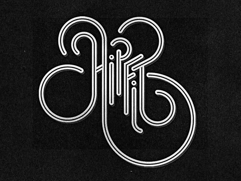 Hipfit Custom Type hipfit typography logo tshirt crossfit